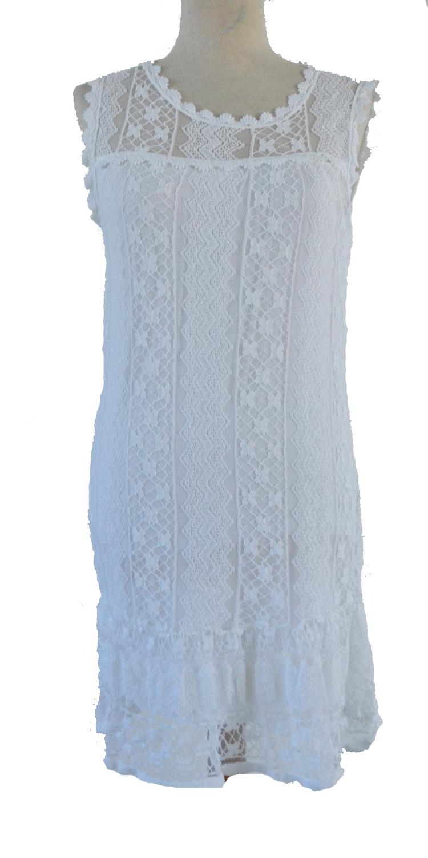 Μεσάτο Μίντι Φόρεμα με Δαντέλα - OEM - SS16MN-5978 top trends δαντέλα