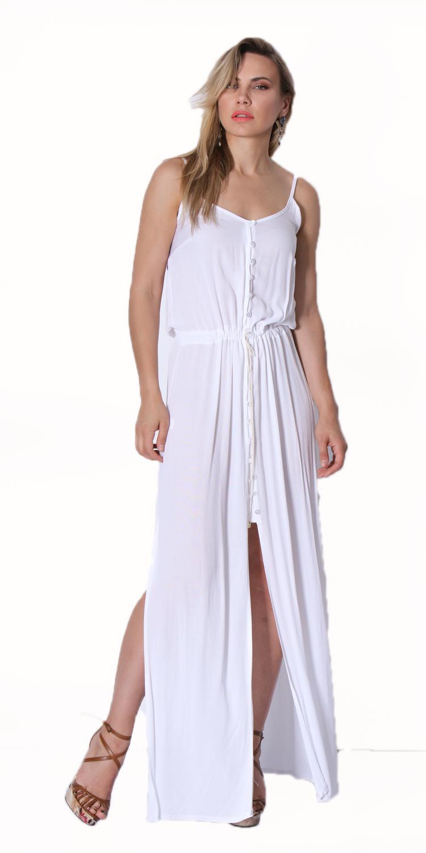 Αέρινο Μάξι Φόρεμα με κουμπάκια - OEM - SS16ONL-3125 φορέματα μάξι φορέματα