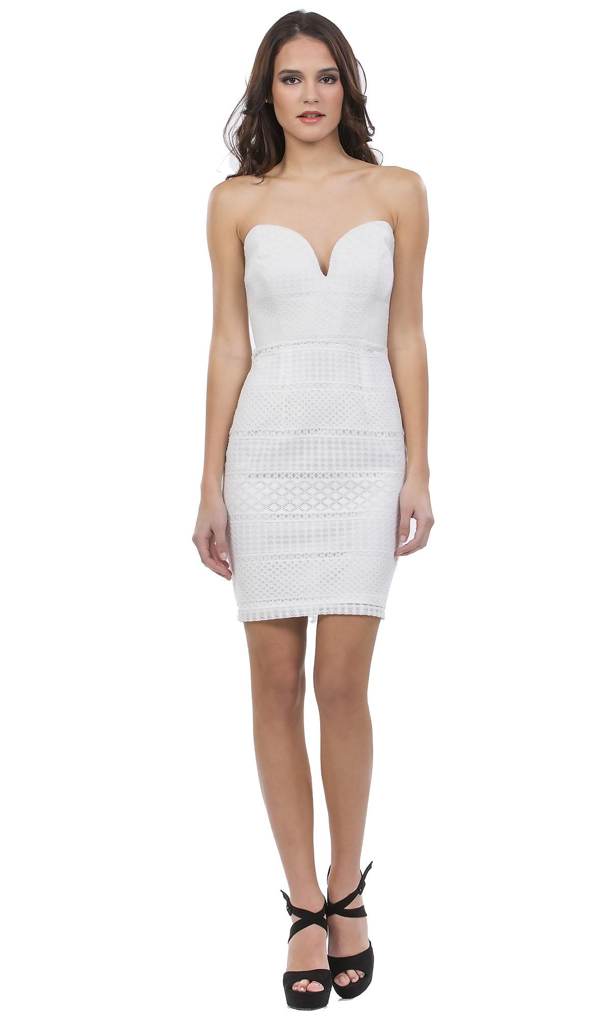 Elegant Bodycon Μίνι Φόρεμα Online με μπούστο καρδιά - OEM - SS17ON-53536 φορέματα βραδυνά φορέματα