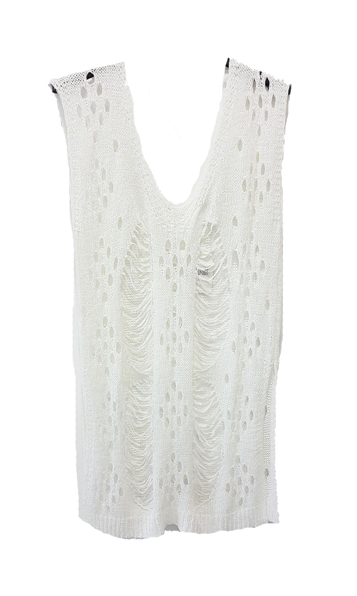 Γυναικείο Διχτυωτό Τοπ με Τιράντες Λευκό - OEM - SS17SOF-112504 ενδύματα μπλούζες   t shirts