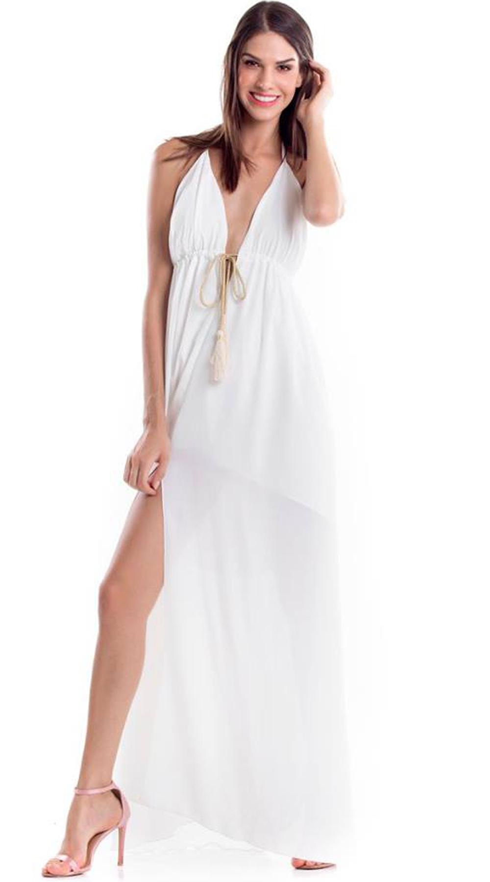 Μάξι Φόρεμα με βαθύ Ντεκολτέ - LOVE ME - SS18LV-53269 φορέματα βραδυνά φορέματα