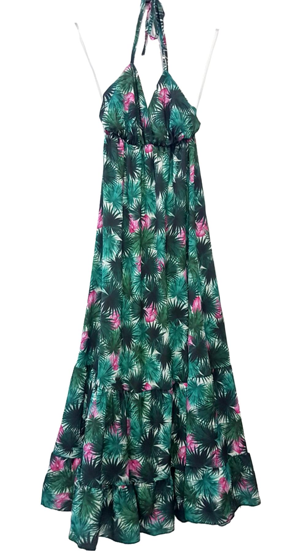 6e583e085fc7 Maxi Φλοράλ Φόρεμα με βολάν   Υπέροχα φλοράλ φορέματα   missreina.com