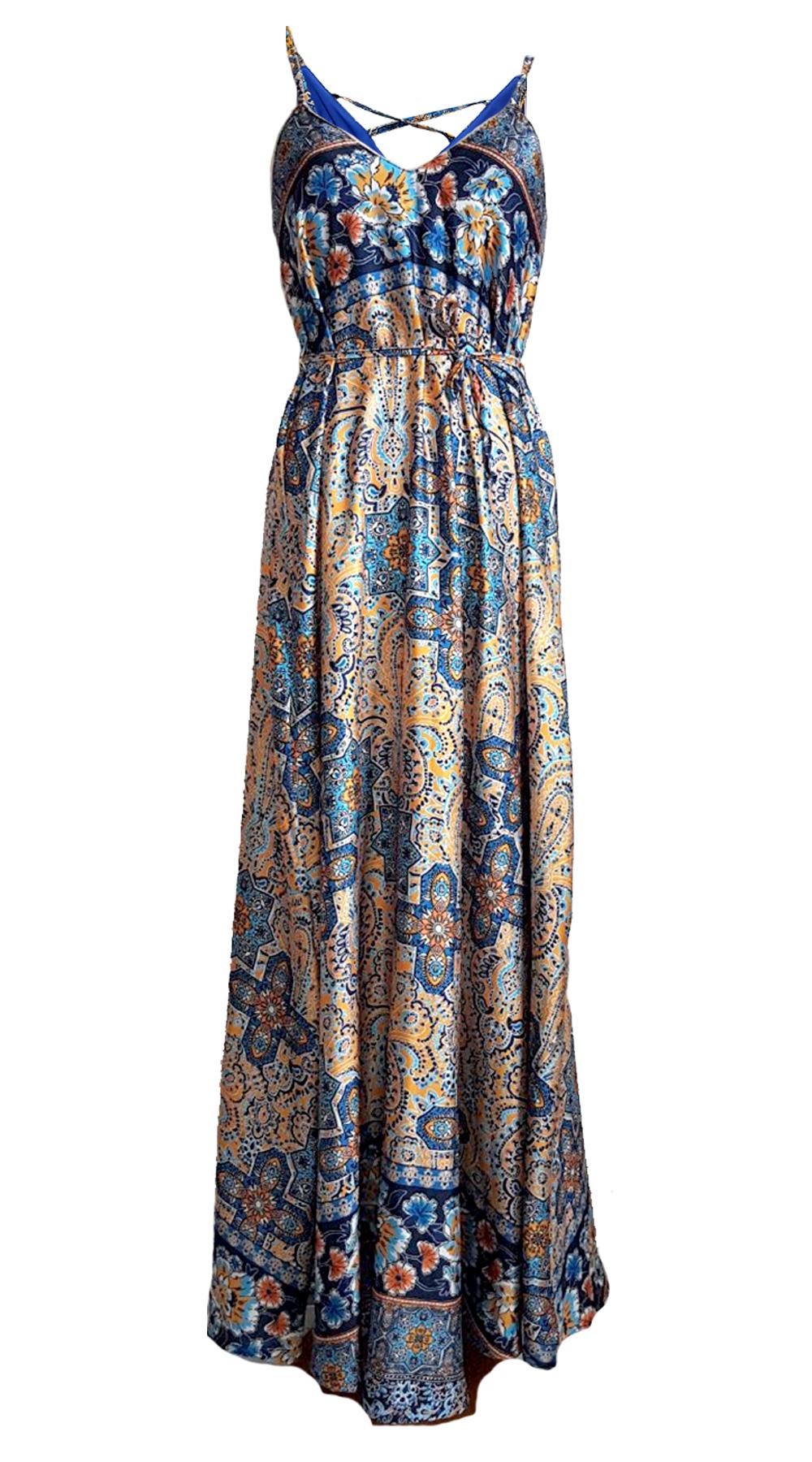 916613682b10 Maxi Εξώπλατο Εμπριμέ Φόρεμα