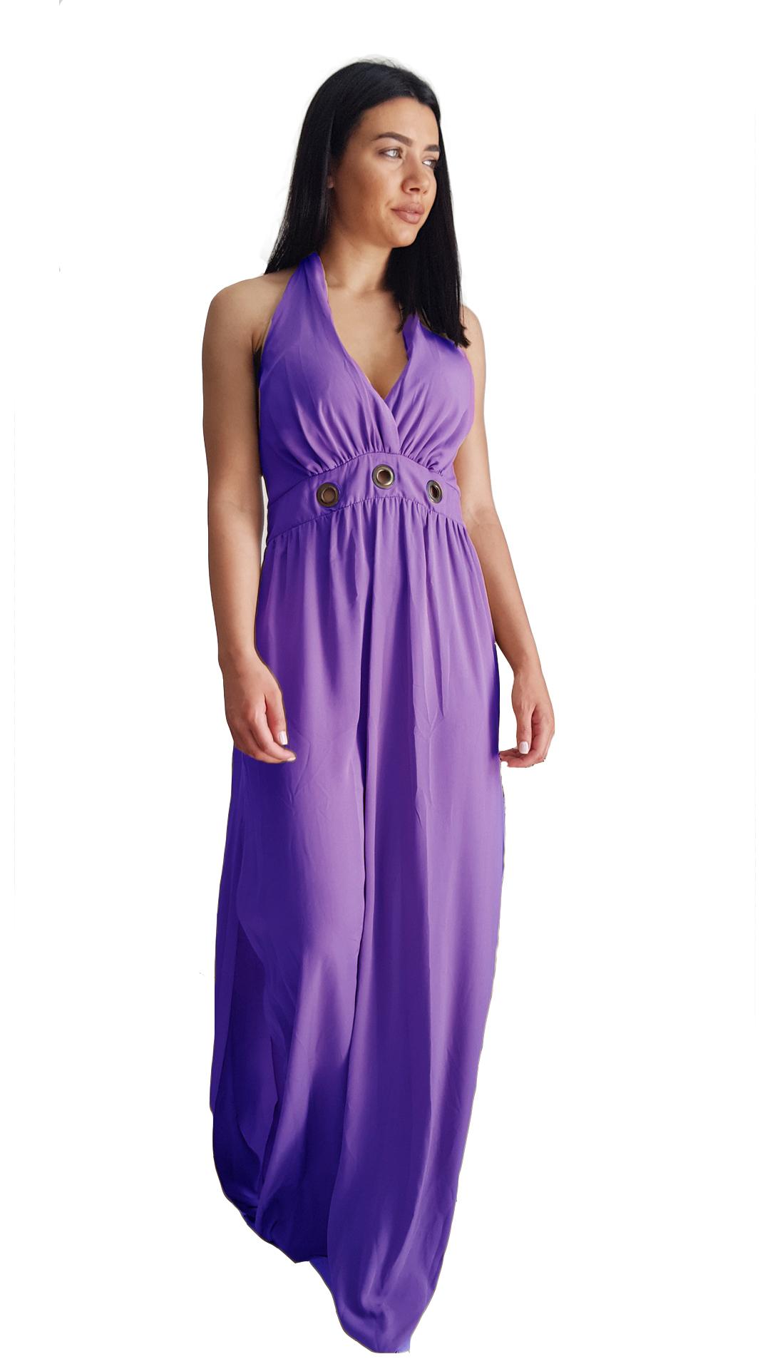 Maxi φόρεμα με σκίσιμο στο πλάι - LOVE ME - SS20LV-545936