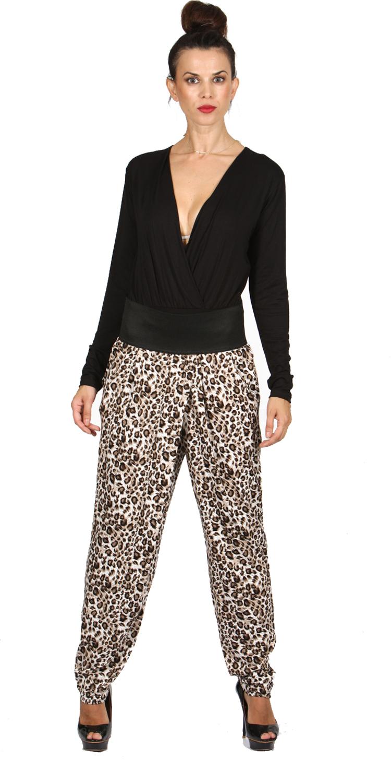 Γυναικεία Παντελόνα με λάστιχο Animal Prints - MissReina - W16CM-58002 top trends casual chic