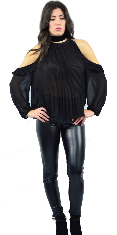 Γυναικείο Shoulder Off Top με Βολάν στο μανίκι - MissReina - W17FF-15260 μπλούζες   t shirts elegant tops
