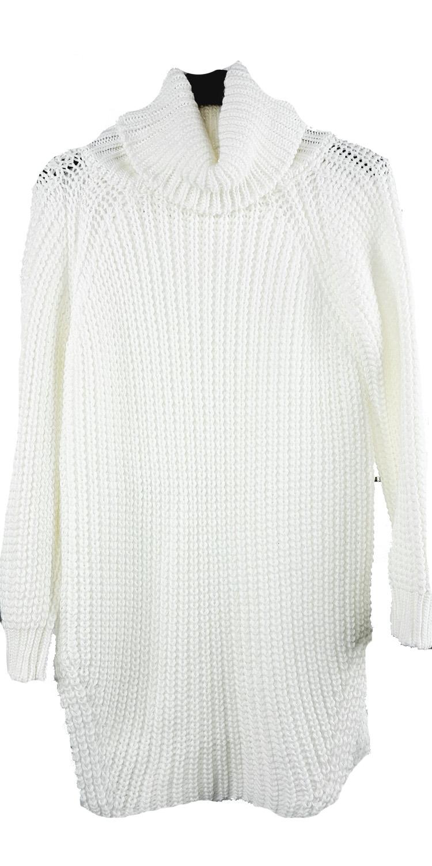 Γυναικεία Oversized Πλεκτή Μπλούζα με μεγάλο ζιβάγκο - MissReina - W17GAL-1562 μπλούζες   t shirts πλεκτές μπλούζες