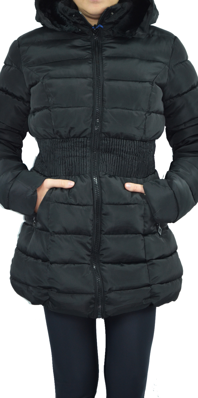 Γυναικείο/Εφηβικό Πουπουλένιο Μπουφάν με σούρα και επένδυση γούνας - MissReina - πανωφόρια μπουφάν
