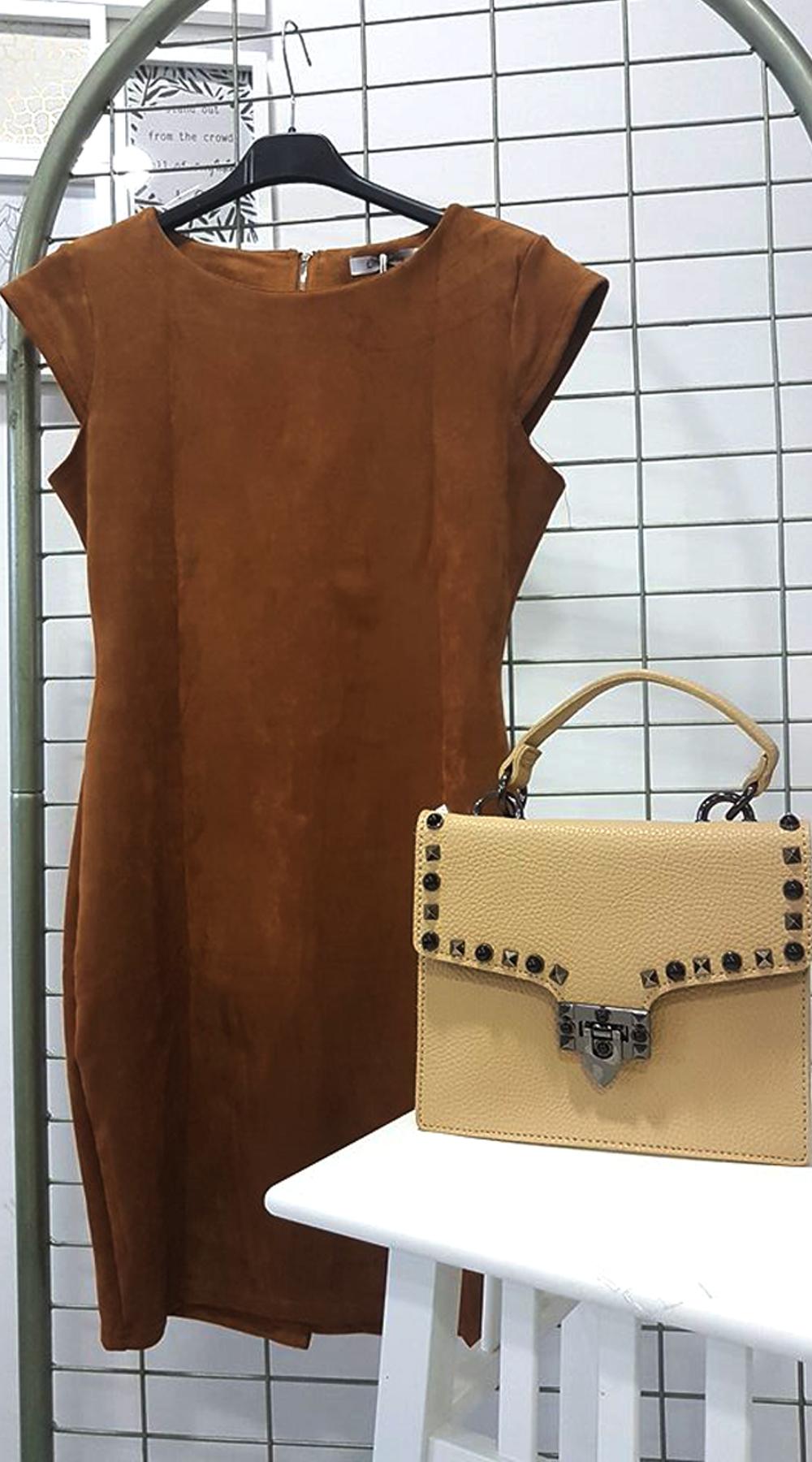 Σουέντ μίνι φόρεμα και τσάντα με τρουκς - OEM - W18DW-D1 offers winter sales up to 50