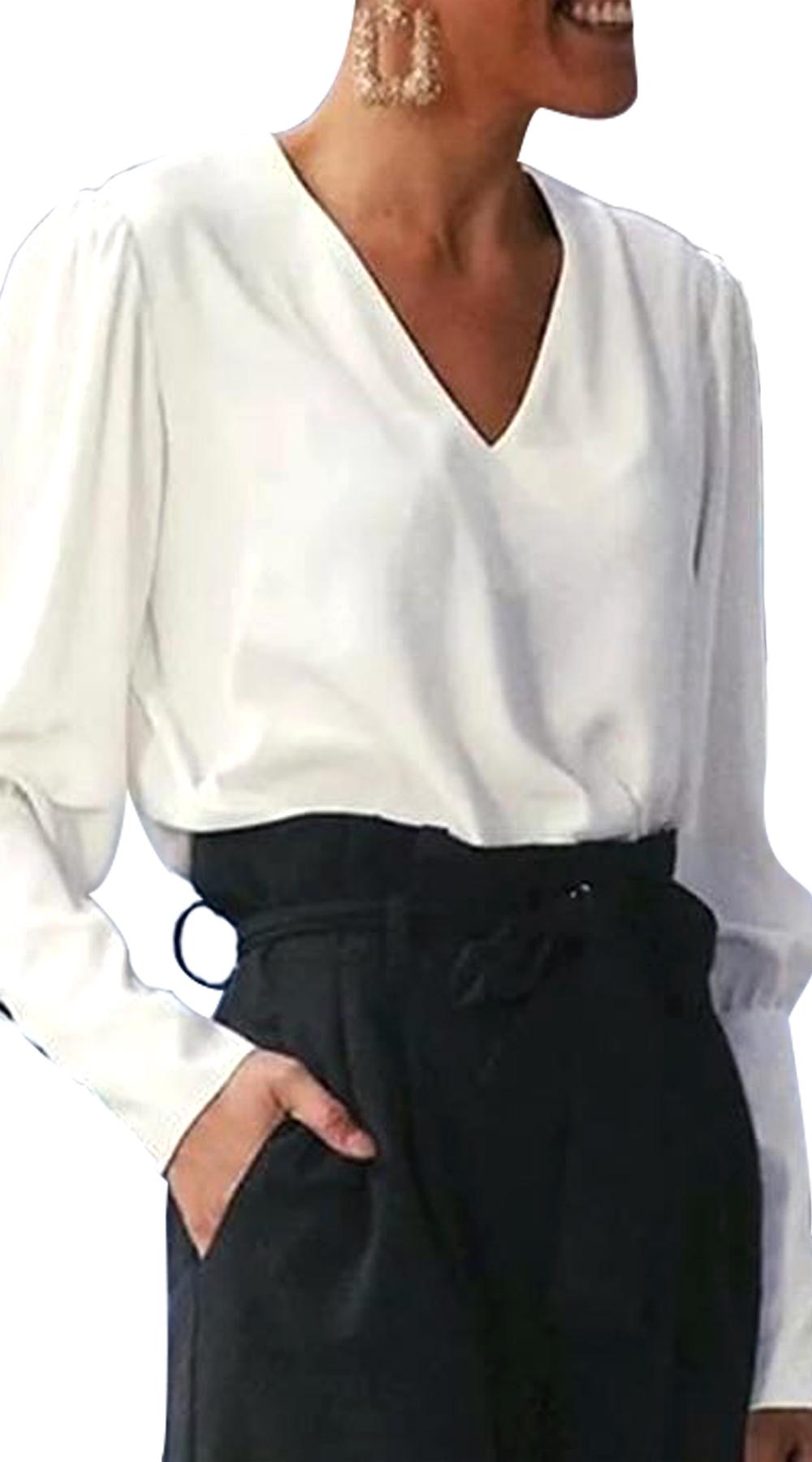 Πουκάμισο με Κουμπιά στην Πλάτη - MissReina - W18GAL-10901 ενδύματα  γυναικεία πουκάμισα   κορμάκια
