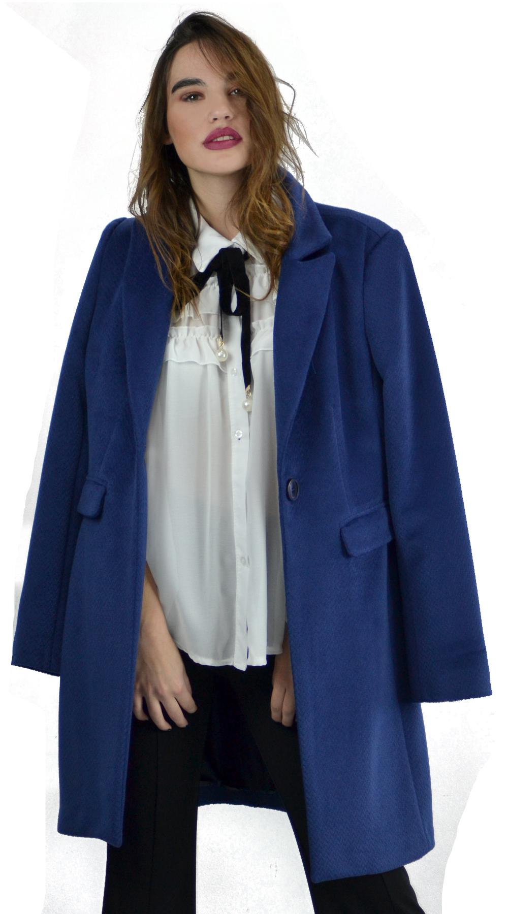 166779034b2 Γυναικείο lux παλτό μάλλινο με ζώνη και τσέπες - LOVE ME - W18LV-43850