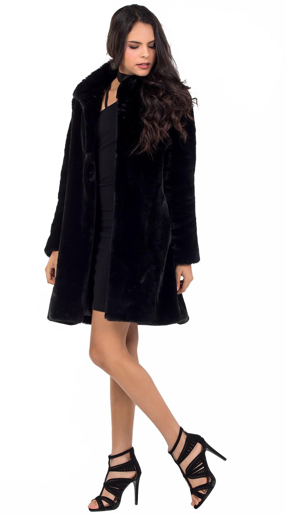 Γυναικείο γούνινο πανωφόρι Online - ONLINE - W18ON-47006 πανωφόρια faux fur outwear