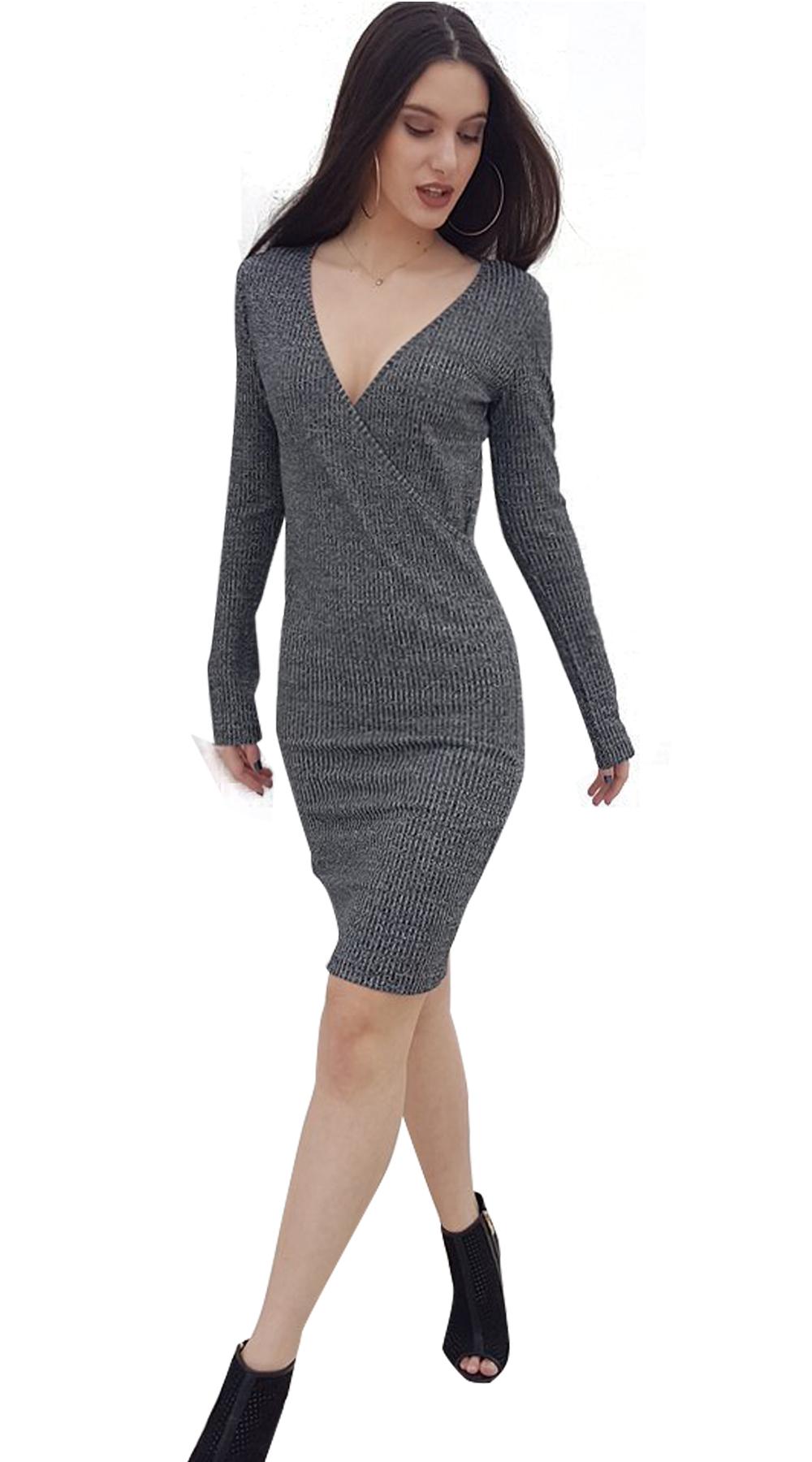 575afa1befaf Μίνι basic φόρεμα κρουαζέ ελαστικό Online - ONLINE - W18ON-52034