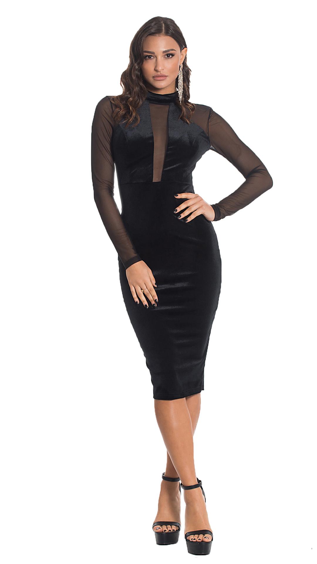 Bodycon midi φόρεμα με διαφάνεια ONLINE - ONLINE - W20ON-52500-