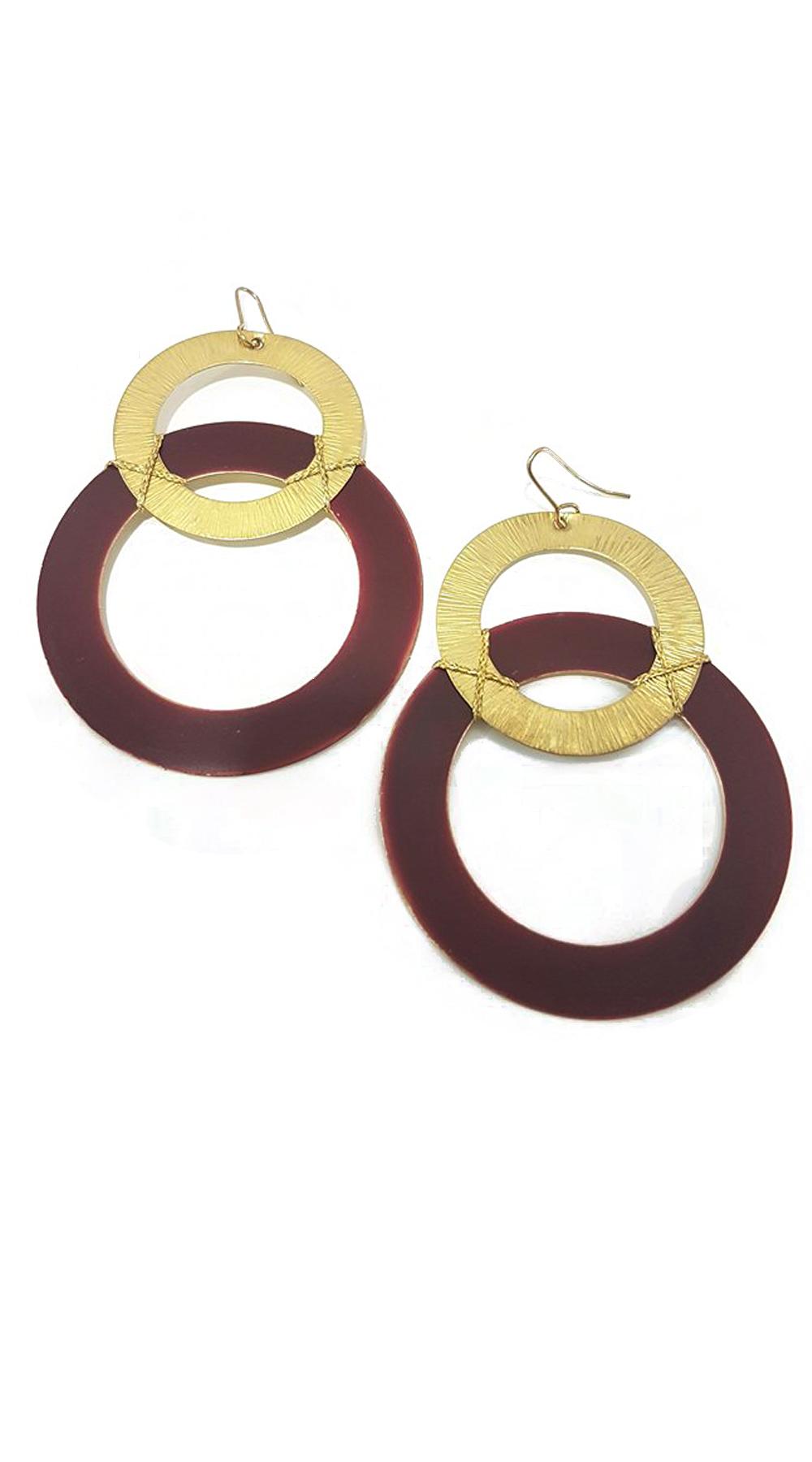 Handmade σκουλαρίκια circle chain - MissReina - FA17AC-202c2 κοσμήματα σκουλαρίκια