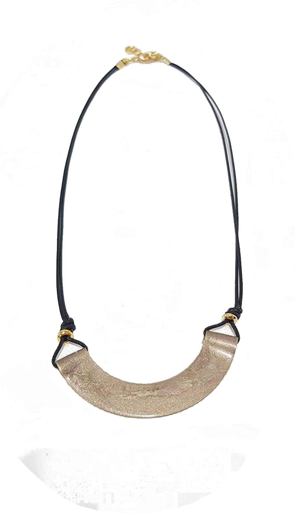 Handmade minimal κολιέ smile - OEM - FA17AC-6995c1 κοσμήματα κολιέ