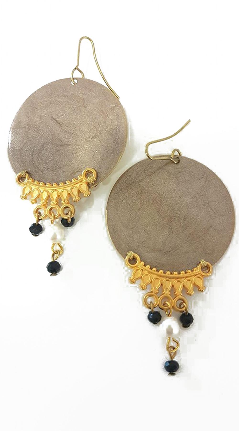 Handmade σκουλαρίκια gypsy style με πολύχρωμες πέτρες - MissReina - FA17AC-6c678 κοσμήματα σκουλαρίκια