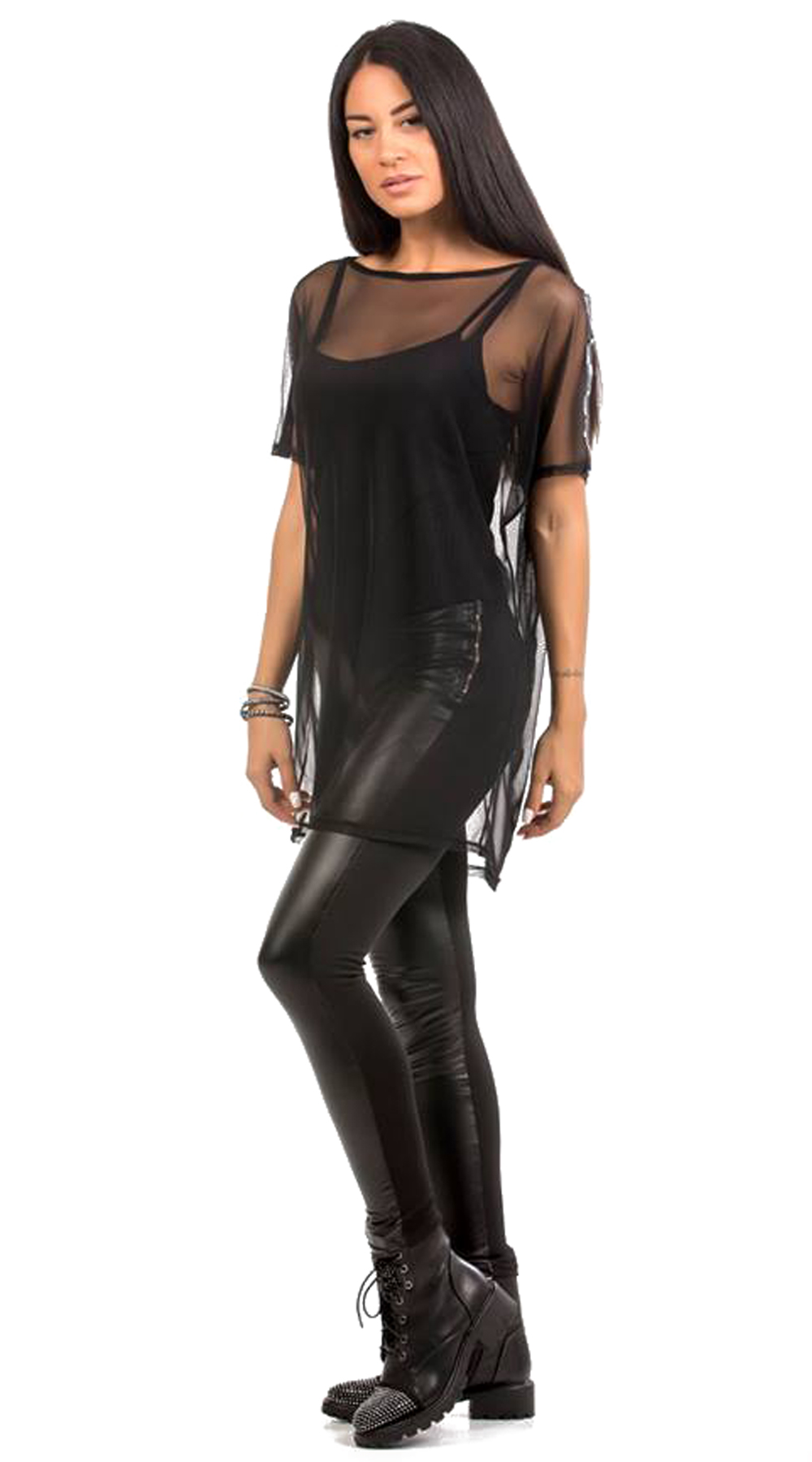Γυναικεία μπλούζα απο τούλι - Greek Brands - FA17CM-11017 μπλούζες   t shirts elegant tops