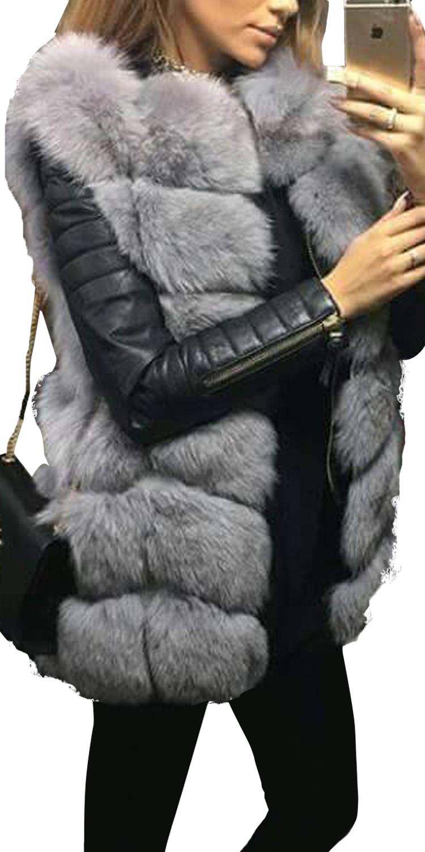 LUX Γυναικείο Faux Fur Γιλέκο Girly Chic - MissReina - W17SOF-412589 πανωφόρια τζάκετς   bomber τζάκετς