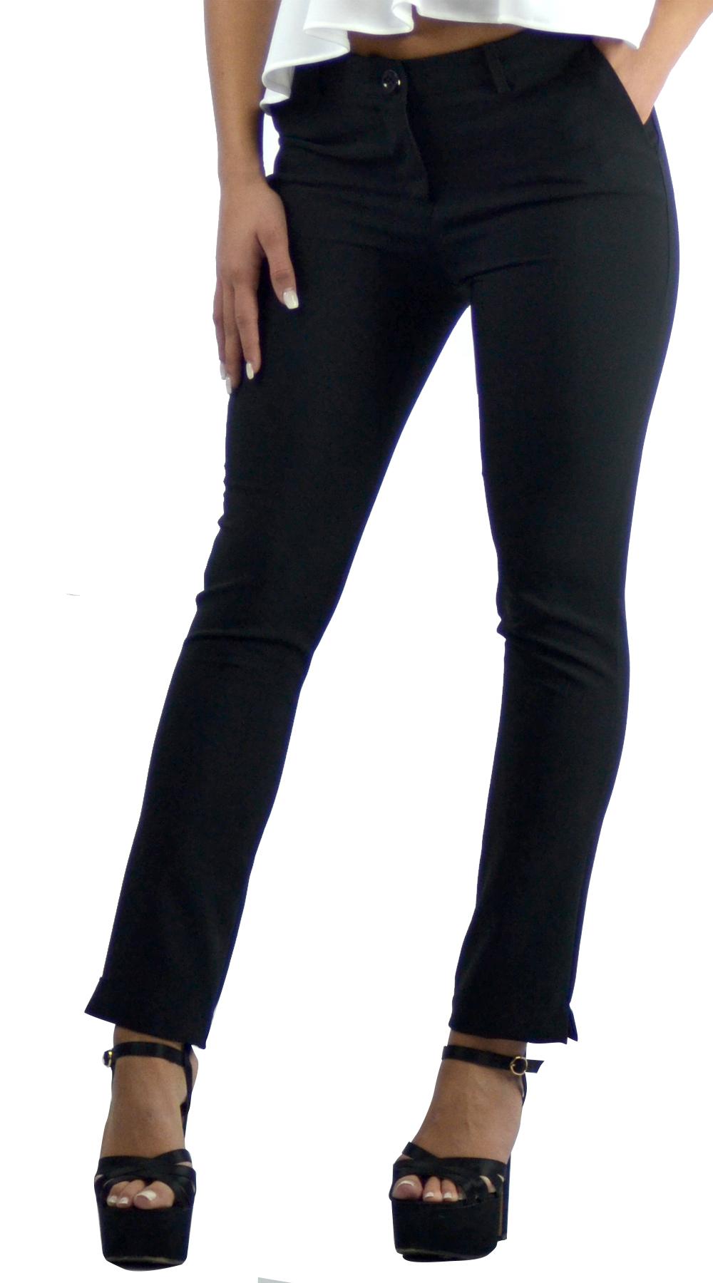 Γυναικείο ψηλόμεσο παντελόνι σε στενή γραμμή - LOVE ME - FA17V-340510 top trends office look