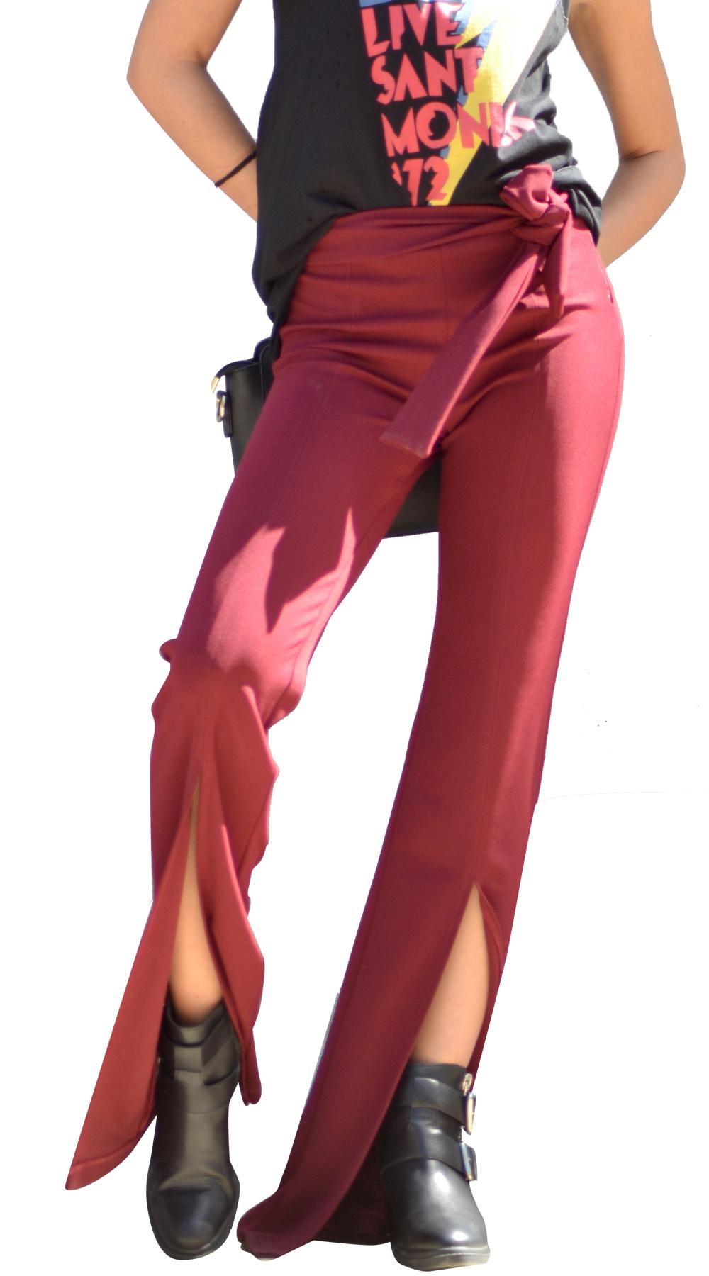 Γυναικείο παντελόνι mermaid με σκίσιμο - LOVE ME - FA17LV-40522 top trends monochrome