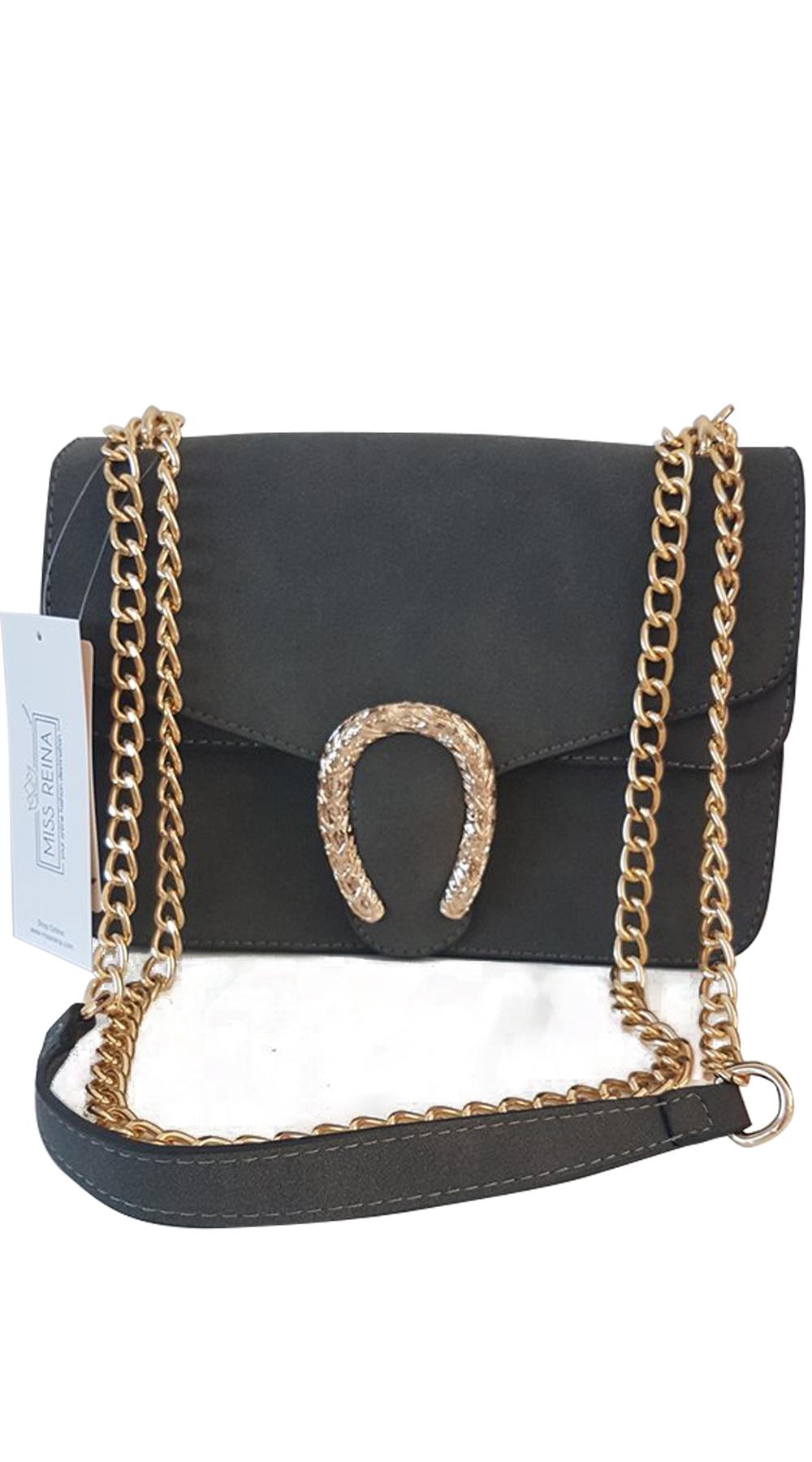 bb373f50e8 Γυναικεία τσάντα χιαστί leatherlook metallic snake buckle - OEM -  FA17AC-6881-1