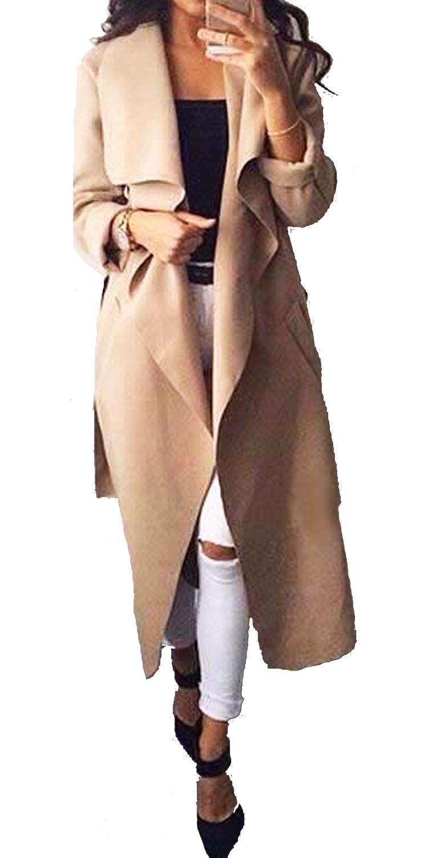 Γυναικείο Μακρύ Παλτό Βελούρ - MissReina - FA17MN-4445 πανωφόρια ζακέτες